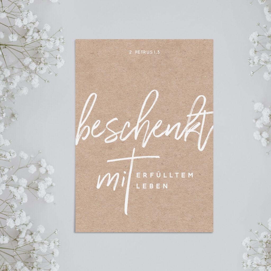 Postkarte «Beschenkt»