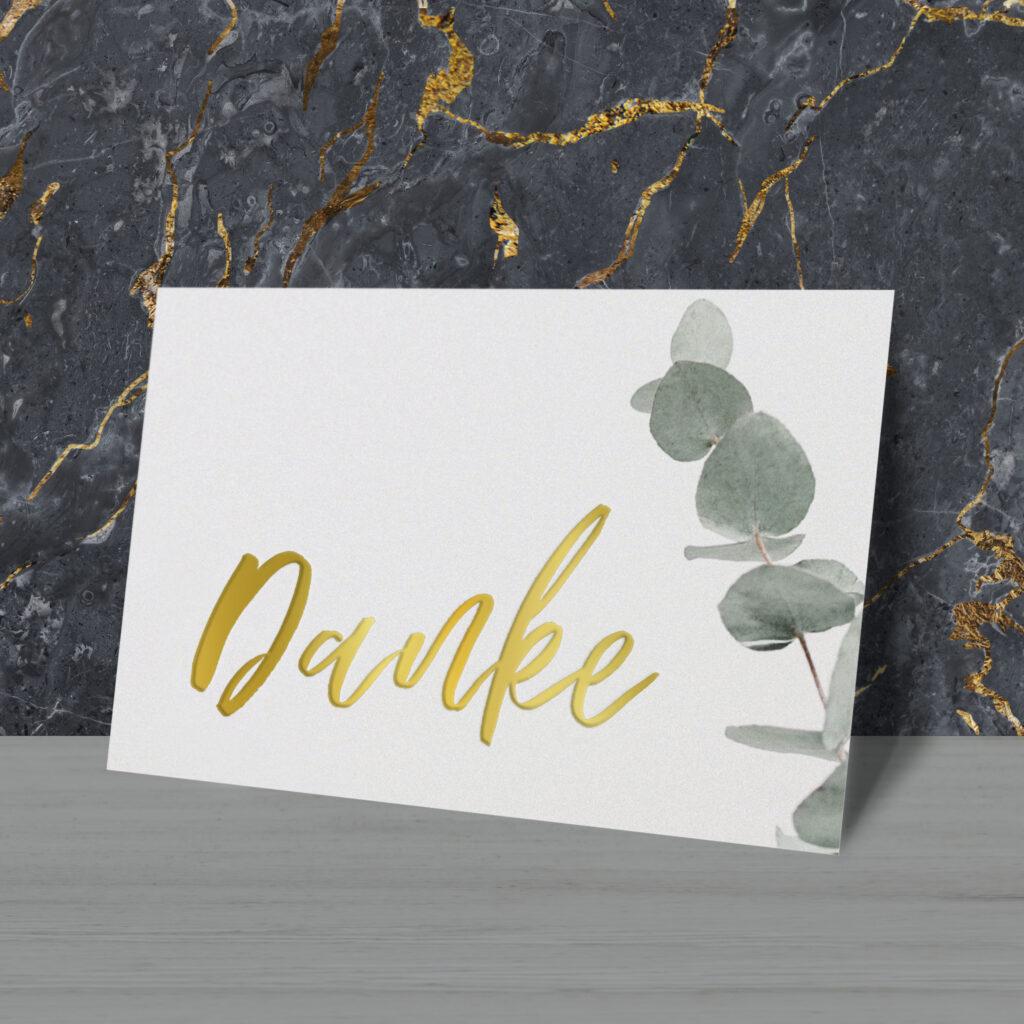 Postkarte «Danke»