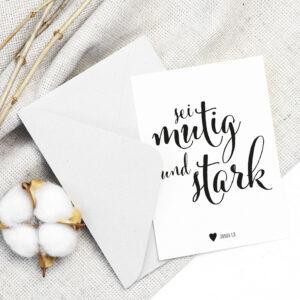 Postkarte «Mutig & Stark»
