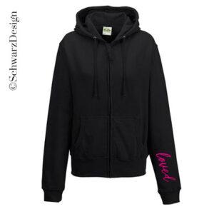 Zip-Hoodie | Basic Kapuze Feminin