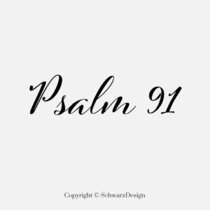 """Mund-Nasen-Maske 3-lagig """"Psalm 91"""""""