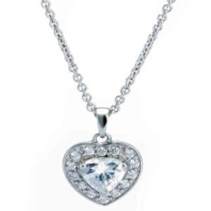 Halskette mit Zirkonia Herz
