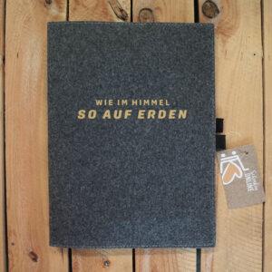 Buch Schutzumschlag Filz A4