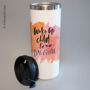 "Thermobecher Edelstahl ""wake-up"""