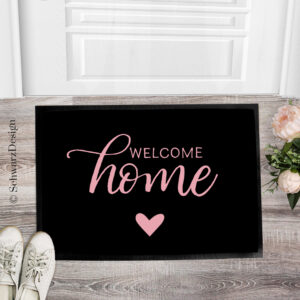 "Fussmatte ""welcome home"""