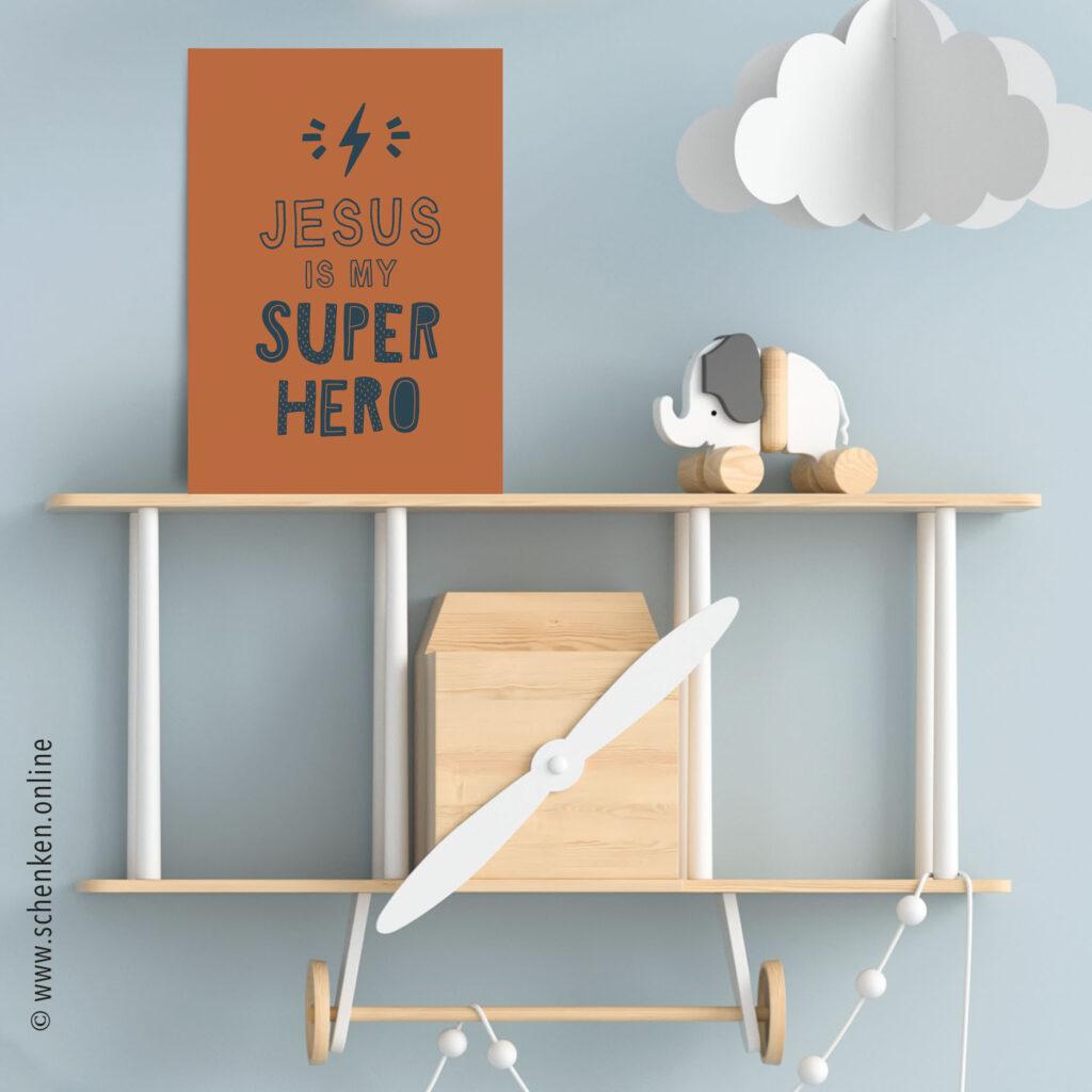 Postkarte «Jesus-Superhero»